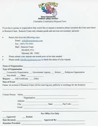 Bouncin Craze Community Support In Kind Donation Form Irs