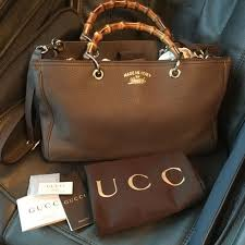 gucci bamboo per blooms leather tote