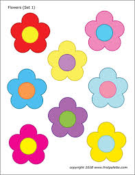 Flowers Free Printable Templates Coloring Pages