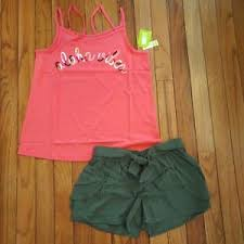 Gymboree Shoe Size Chart Inches Details About Nwt Crazy 8 By Gymboree Girls Outfit Tank Top Shorts Size 10 12 14 16