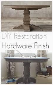 diy restoration hardware weathered gray finish