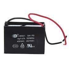 10uf 10mfd 450vac 50 60hz 2 wire fan capacitor cbb61 c3v5