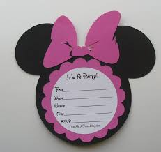 minnie mouse birthday invitations templates baby shower theme decoration packages cake favors ideas free