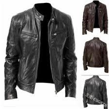 2019 <b>New</b> Fashion <b>Men</b> Vintage Cool Motorcycle Jacket <b>Leather</b> ...
