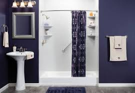 simple bathrooms with shower. Inspiring Simple Bathroom Designs For Your Minimalist Home Decpot Superb White Blue Design With Pedestal Sink Bathrooms Shower N