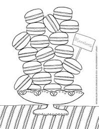 Small Picture Free Printable Macarons coloring page for grown ups Diy kitchen