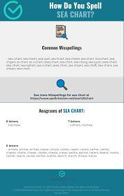 Correct Spelling For Sea Chart Infographic Spellchecker Net