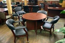 conference table chairs set room and used office depot round unique rh familyhealth site round conference