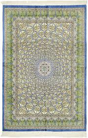132cm x 198cm qom persian rug