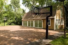 basketball barrier nets traditional shed also barn garage basketball court basketball standard brick brick court driveway garage green garage doors