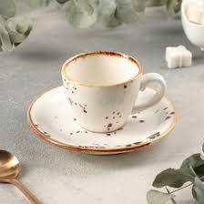 """Кофейная пара """"Элиганс"""" чашка 75 мл, <b>блюдце 12 см</b> (4515151 ..."""