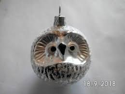 Christbaumkugel Eule Silber Aus Glas Weihnachten Baumkugel