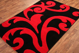 lovely large red rug and red and black area rugs details about large red black flower