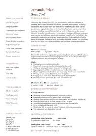 ... Baffling Sous Chef Resume With Sous Chef Job Description Example And Chef  Resume Objective Statement ...