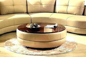 coffee table with storage ottomans table top ottoman round coffee table storage post navigation a round