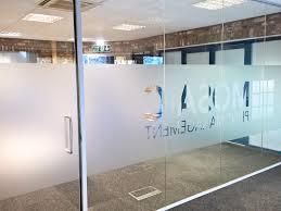 mosaic print management york acoustic glass office partition