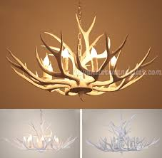 8 whitetail deer antler chandelier pure white eight candelabra ceiling lights hanging lighting