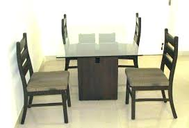 er wooden dining table with glass top in india s