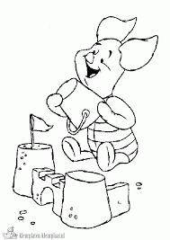Kleurplaat Winnie De Pooh Zomer Winnie The Pooh Un Uccellino Si Posa