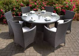 royalcraft roma grey rattan 6 seat round carver dining garden for the stylish royalcraft garden furniture intended for your own home