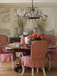 love these red gingham slipcovers the french tangerine ᘡղbᘠ consider for the kitchen set