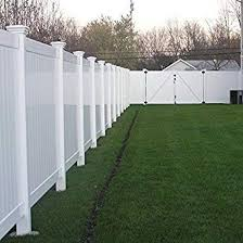 Vinyl privacy fence Foot White Vinyl Privacy Fence Panel Amazoncom Amazoncom Savannah Ft Ft White Vinyl Privacy Fence