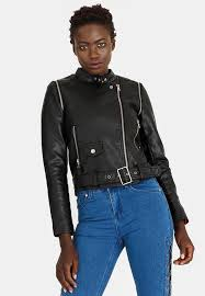 style republic biker jacket with removable sleeves black