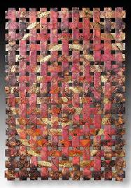 outdoor copper wall art woven metal