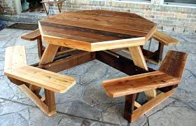 round wooden picnic table wood picnic table plans wood picnic table instructions wood picnic table free