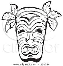 Small Picture Printable Totem Pole Coloring Pages Polynesian Tiki Masks These