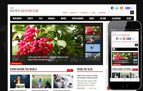 The New Reporter Entertainment Website Template W3layouts Com