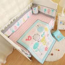mint green and grey baby crib bedding