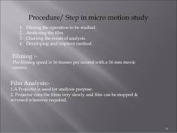 recording techniques used in method study ppt 35 36 procedure step in micro motion