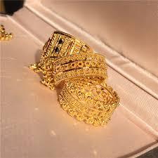 domestic spot beijing jing dubai 22k gold prime gold openwork lace design female ring