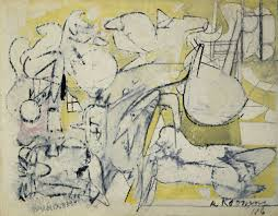 willem de kooning paintings plastic arts fine art abstract expressionism new york