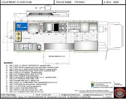 food truck floor plans. CAD Equipment Floor Plan - Food Trucks For Sale | Used Truck Plans