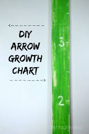 Arrow Growth Chart How To Make A Height Chart Home Diy