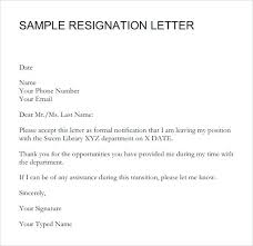 One Weeks Notice Letter Retail Associate Resignation Letter After One Week 1 Notice Period