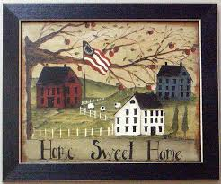 primitive country framed wall art