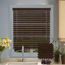 faux wood venetian blinds in rustic cinder dark brown blinds just blinds