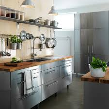 Stainless Steel Kitchen Furniture Kitchen Stainless Steel Cabinets On Casters Stainless Steel