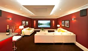 image of home theater room decor lighting ideas in remarkable decorating