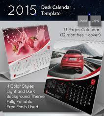2016 desk calendar template