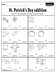 March addition and subtraction worksheets for kindergarten for ...