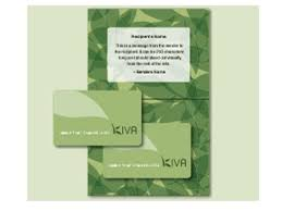giving kiva gift cards
