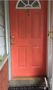 Coral Front Door Project Front Porch Makeover Part 2a Yippee I Have A Beautiful