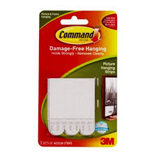 command picture mirror hanging strips medium 1kg for hanging pictures pack of 4 sets