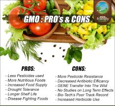 gmo foods pros and cons list