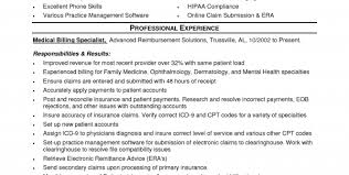 entry level medical billing and coding resume sample medical billing and coding resume sample