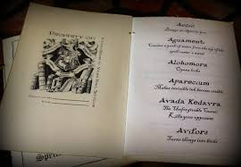 tlotp bookspells5 it is several pages long and includes a ton of the spells mentioned throughout the harry potter